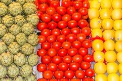 Food display. Food on display at a market Royalty Free Stock Photography