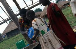 Food distribution, Uganda Stock Image