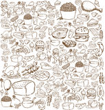 Food Doodle Stock Image