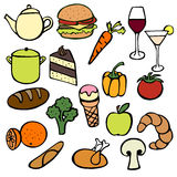 Food Doodles Royalty Free Stock Photography