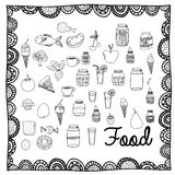 Food drawing Royalty Free Stock Image