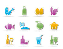 Food, drink and Aliments icons. Vector icon set vector illustration