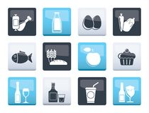 Food, drink and Aliments icons over color background. Vector icon set vector illustration