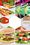 Food and drink collection collage beverages drinks meal meals re stock photography