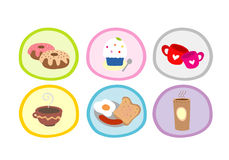 Food and drink Cute Cartoon Design Vector Stock Photos
