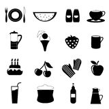 Food drink icon. Set of food drink icon illustration vector Stock Photos