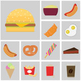 Food and drink icon. Fast Food vector. flat color icons. Icon burger Royalty Free Stock Photography