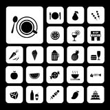 Food and drink icon set Stock Photography