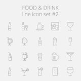 Food and drink icon set Stock Image
