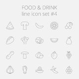 Food and drink icon set Stock Photos