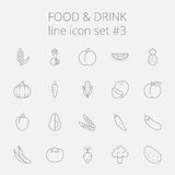 Food and drink icon set Royalty Free Stock Photography