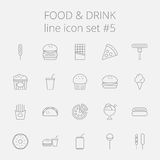 Food and drink icon set Royalty Free Stock Photo