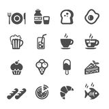 Food and drink icon set, vector eps10 stock illustration