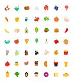 49 food and drink icon set. Vector flat Stock Photography