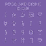 Food and drink icon set. Royalty Free Stock Image