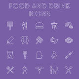 Food and drink icon set. Stock Photos