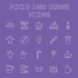 Food and drink icon set. Royalty Free Stock Photography