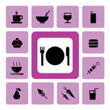 Food and drink Icon2 Royalty Free Stock Photography