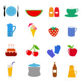 Food drink icons Royalty Free Stock Photography