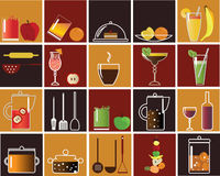 Food and drink icons Royalty Free Stock Photos