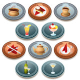 Food and drink icons Stock Photography