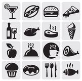 Food Drink icons. Food and Drink icons set Royalty Free Stock Photo
