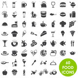 Food and drink icons. 60 Food and drink icons stock illustration