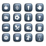 Food & Drink Icons Royalty Free Stock Images