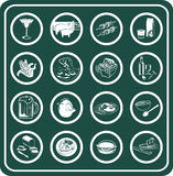 Food and drink icons. A set of food and drink icons stock illustration