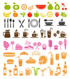 Food and drink icons Royalty Free Stock Photography