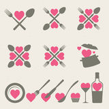 Food and drink icons collection Royalty Free Stock Photography