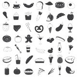 Food and Drink Icons Collection Royalty Free Stock Image