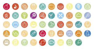 Food and drink icons Stock Photo