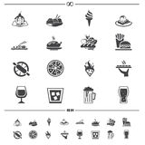 Food and drink icons Royalty Free Stock Images