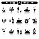 Food & Drink icons Royalty Free Stock Photography