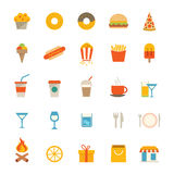 Food and Drink Icons Royalty Free Stock Image