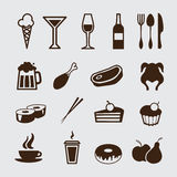 Food and drink, icons set Stock Photo