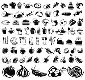 Food and drink icons set Royalty Free Stock Image