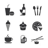 Food and drink icons. Vector food and drink icons Stock Image