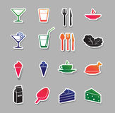 Food and drink icons Royalty Free Stock Photo
