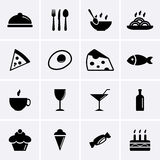 Food and Drink Icons. Vector Royalty Free Stock Image