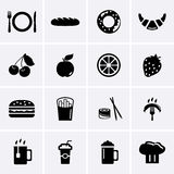Food and Drink Icons. Vector. Food and Drink Icons for web. Vector Stock Image