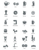 Food & Drink Icons Royalty Free Stock Photos
