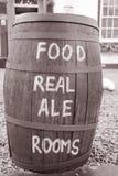 Food and Drink Menu on Barrel Stock Images