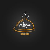 Food and drink menu design background Royalty Free Stock Photo