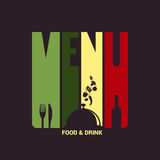 Food and drink menu label design background Stock Images