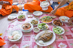 Food and drink for monks Royalty Free Stock Photography