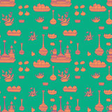 Food and drink pattern Stock Photo