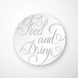 Food and Drink Poster - Lettering. Royalty Free Stock Photo