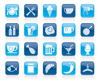 Food, drink and restaurant icons Royalty Free Stock Image